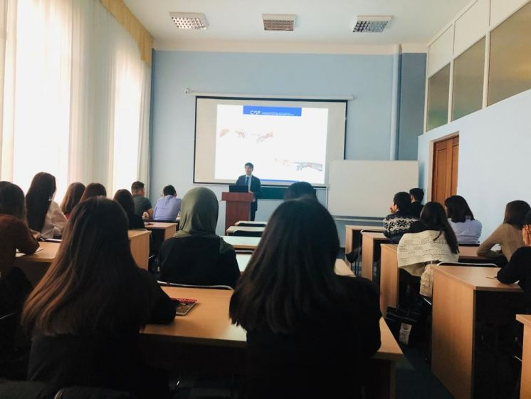 Guest lecture by CISP Director on lethal autonomous weapon systems at KAZGUU University named after M.S. Narikbaev