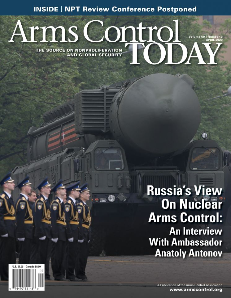 Arms Control Today, News in Brief, April 2020